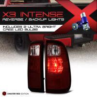 !Cree LED Reverse! Tail Light SET 2008-2016 Ford F250 F350 F450 SD Dark Red Rear
