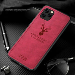 Deer Pattern Leather Bumper Case Cover For iPhone 12 Pro Max 11 13 XR XS X 7 8