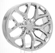 "Chrome 22"" Snowflake Wheels Rims For Chevy Silverado Suburban Tahoe CK156"