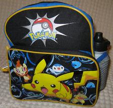 """Kid Pokemon Pikachu&Friends School 10"""" Backpack Book Bag Water Bottle Unisex-New"""