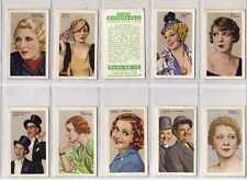 (Ly376-275) Gallaher, Stars of Screen & Stage, Green, 1935, Full Set of 48 VG