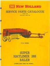 NEW HOLLAND SUPER HAYLINER 268 BALER PARTS MANUAL