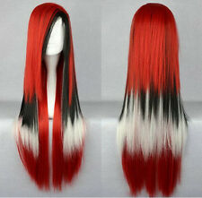New arrival - Lolita fashion mix red and black long straight wig A01