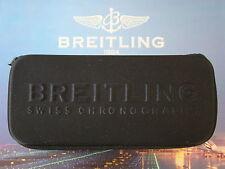 BREITLING SEMI RIGID BLACK ZIPPERED WATCH BOX SUNGLASSES CASE W/ INTERIOR PAD