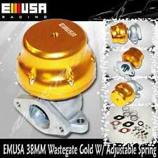Emusa 38mm wastegate GOLD Adj. Type 2 External 4 6 8 10 PSI four springs