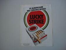 advertising Pubblicità 1982 SIGARETTE CIGARETTES LUCKY STRIKE