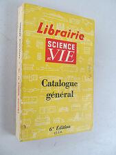 Librairie Science et Vie Catalogue général Chimie Physique Sports 1958