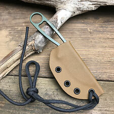 Custom Handmade Coyote Brown Kydex Sheath For ESEE Izula Fixed Blade Knife