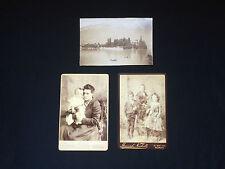Two Antique Carte De Visite & One Antique Photograph
