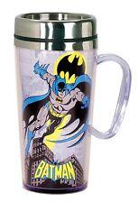 DC Comics Batman Aislante Taza para viaje, negro