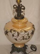 GORGEOUS VINTAGE MARIGOLD IRRIDESCENT CARNIVAL GLASS ACCURATE CASTING CO. LAMP!!