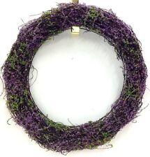 "Heather Vine Wreath. Wire Frame. Purple. 15"". Artificial"