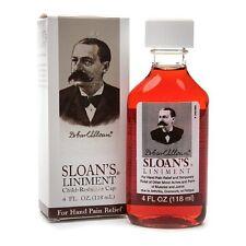 Sloan's Liniment Rub 4 oz (118ml) #22438-1 Sloans Pain Relief Original Formula