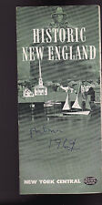 Historic New England Booklet New York Central Railroad 1947