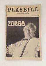 Playbill Program Zorba Anthony Quinn 1983 Souvenir Booklet Broadway Theatre