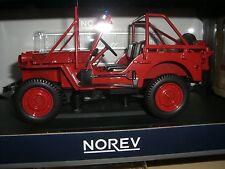 FIRE DÉPARTEMENT VÉHICULE 1988 rouge feu NOREV, ÉCHELLE 1:18 4518901200