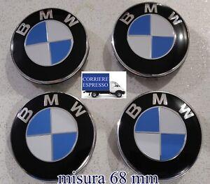 4 COPRIMOZZO BMW LOGO ORIGINALE TAPPI RUOTA Serie 1 2 3 4 5 6 7 M Z X CAPS 68mm