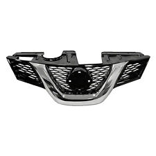 Front Grille Chrome & Black Fits Nissan Rogue 2014 2015 2016 wo/Camera NI1200258