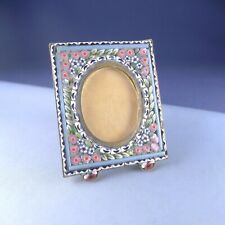 Miniature Micro Mosaic Picture Frame / Photo Antique