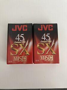 2 Pack - BRAND NEW / SEALED JVC EC-45 SX - 45 Minute Camcorder Cassette Tape
