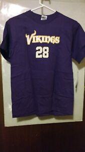 NFL Team Apparel Minnesota Vikings #28 A. Peterson Youth Size L T-shirt