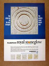 1965 Ruberoid Royal Stoneglow Asbestos Floor Tile vintage print Ad