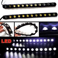 2x Anti-collision White LED DRL Strips Car Daytime Running lights Fog Lamps IP65