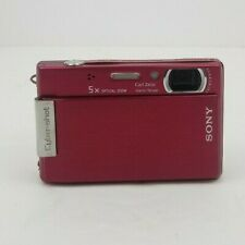 Sony Cyber-Shot DSC-T100. 8.1MP Digital Camera  Red + Charger & 2 Batteries