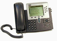 CISCO CP-7961G UNIFIED VoIP 6 PROGRAMMABLE BUTTON (LINE) IP PHONE SIP AVAILABLE