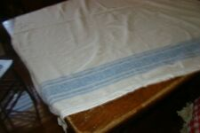 1940'S Blue & White Vintage 100% Cotton Tablecloth