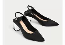 BN Zara Black Shoes With Transparent Heels UK Size 4/37