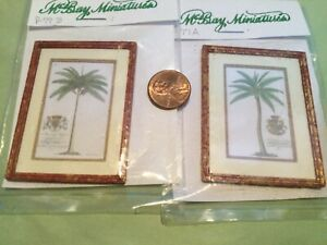 """1"""" Scale - McBay Miniatures matching Palm Tree Prints - New in pkg - RETIRED"""