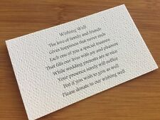 10 x IVORY Wishing Well Cards - Printed And Cut - Wedding Invitations - Cards