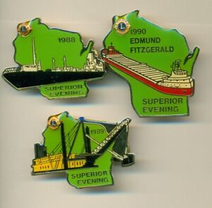 WISCONSIN LIONS CLUB PIN(S) - BOAT