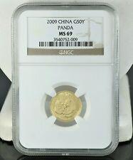 2009 NGC China G50Y Yuan MS69 Panda Gold MS 69 1/10z Au.999 Coin