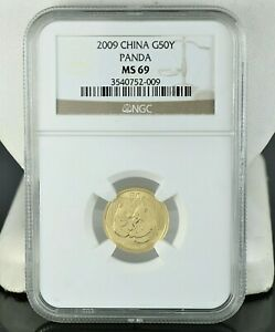 2009 NGC China G50Y Yuan MS69 Panda Gold MS 69 1/10z Au.999 Coin