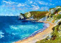 ORIGINAL Durdle Door Painting - Coast Sea British Art Original Presale