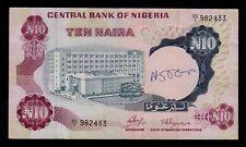 NIGERIA  10 NAIRA ND ( 1973-78 ) PICK # 17a VF