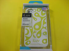 iLUV AURORA GLOW DARK CASE FOR APPLE IPHONE 4S/4 WHITE & ELECTRIC LIME COLOR