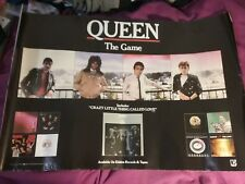 Queen 1980 The Game Us Promo Poster Vg Edge Creases Nice Vtg Htf!