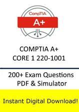 CompTIA A+ Core 1 220-1001 Exam (200+ Exam Questions PDF Sim->Email)