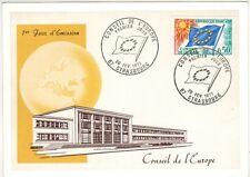1971 - FDC CP 1°JOUR - CONSEIL DE L'EUROPE - STRASBOURG - TIMBRE SERVICE  Yt.33