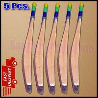 5 X Senior Custom Plain Hand Made English Willow Cricket Bat + Extras HA8