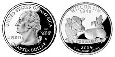 2004 S GEM BU PROOF  WISCONSIN STATE QUARTER BRILLIANT UNCIRCULATED COIN PF