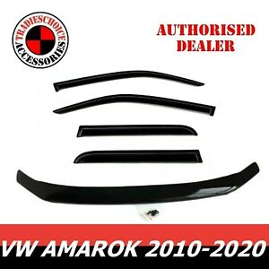 Bonnet Protector Guard and Weather Shields Fit VOLKSWAGEN VW Amarok 2010-2020