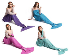 Adult Mermaid Tail Knitted Crochet Soft Warm Sleeping Bag Wrap Blanket Colors