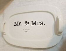 Mud Pie Mr. And Mrs. Platter Est. 2017  - Free Shipping