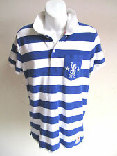 Adidas Polo CFC Celsea Football Soccer Reflex Blue White Shirt SMALL Rugby