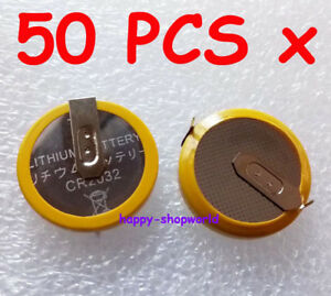 50 x 3V Tabbed CR2032 Save Battery For N64 Megadrive SNES NES Games with 2Pins