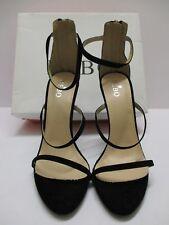 Bebo Asara noires en daim synthétique Heeles Sandales Taille 4/37 NEW IN BOX